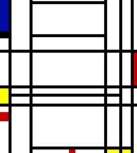 "Piet Mondrian ""Composition 10"""