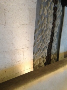 rock mosaic wall finish